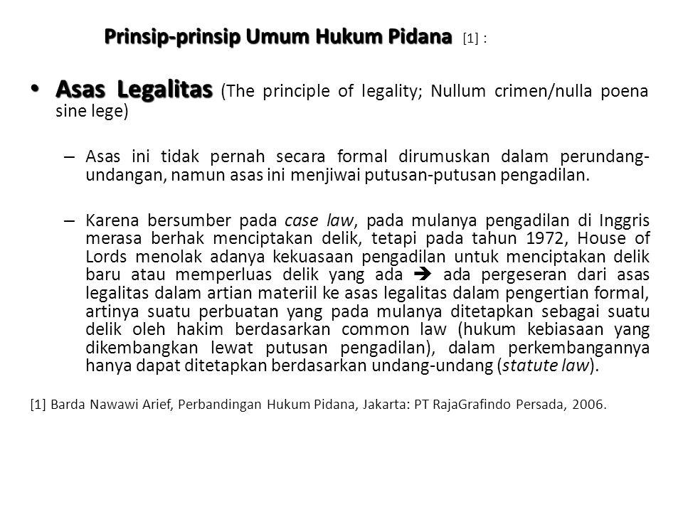 Prinsip-prinsip Umum Hukum Pidana [1] :